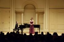 Diana Daniel and Djordje Nesic at Carnegie's Weill Hall
