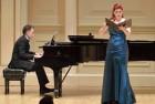 with Blythe Gaissert Levitt at Weill Hall at Carnegie