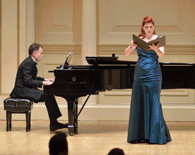With Blythe Gaissert Levitt, at Weill Hall at Carnegie
